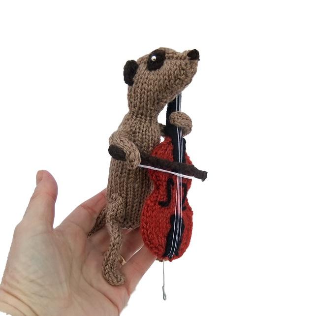 Cello musician meerkat