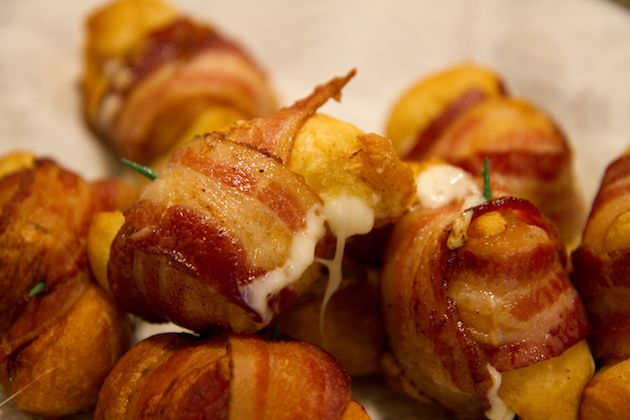 Cheesy Bacon Bombs Substitute the biscuits with some gluten free dough - and YUM!