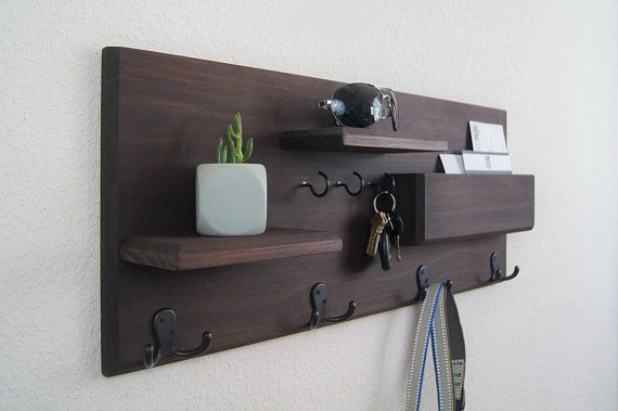 Entryway Wall Organizer Coat Rack Mail Storage Coat Hooks And Key Rack Wall Mounted Floating Shelf With Hooks Coat Rack Wall Entryway Coat Rack Diy Coat Rack