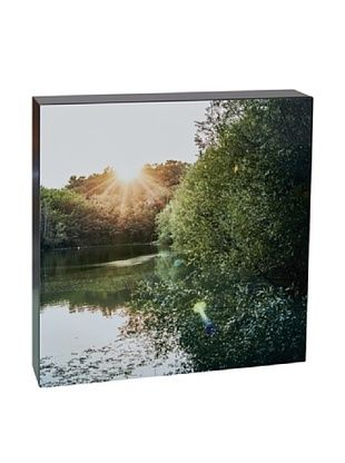 46% OFF Art Block Rays Over Lake - Fine Art Photography On Lacquered Wood Blocks