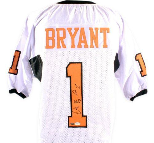 Dez Bryant Signed Oklahoma State Cowboys Jersey - Witness - JSA Certified - Autographed College Jerseys by Sports Memorabilia. $229.99. Dez Bryant Signed Oklahoma State Cowboys Jersey - JSA Witness. Every item we see is 100% guaranteed authentic. Like every piece we sell, this is a high quality item at a great price. The value of an item like this tends to increase over time. It's hard to find pieces like this since Dez Bryant doesn't sign very often. Amazing sign...