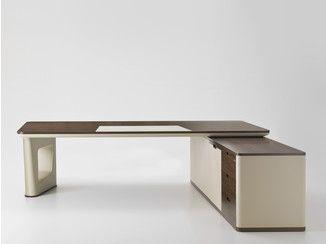 Стол деревянный исполнительный рабочий уголок АВАТАР |  Угловой офисный стол - I 4 Mariani