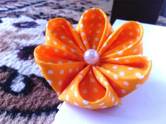 orange kanzashi