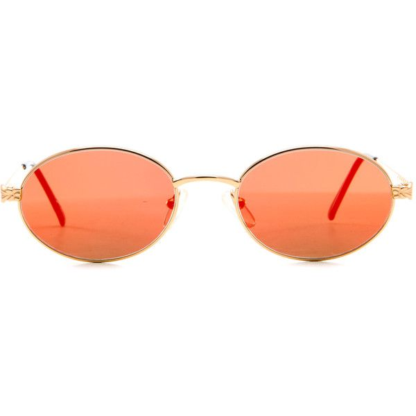 3a888a1a266c8 GianFranco Ferre 238 (Black Orange Mirror Flat Lens) ( 300) ❤ liked on  Polyvore featuring accessories