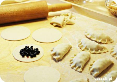 Pierogi z jagodami. więcej na http://www.osesek.pl