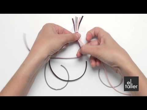 Video tutorial de la técnica de la trenza de cinco cabos para bisutería. www.eltalleronline.com
