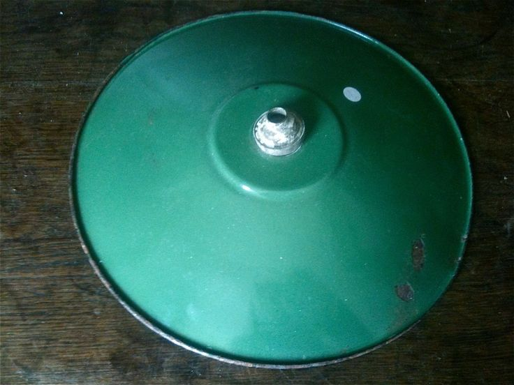 Vintage French green enamel industrial commercial hanging lamp light shade circa 1960's Purchase in store here http://www.europeanvintageemporium.com/product/vintage-french-green-enamel-industrial-commercial-hanging-lamp-light-shade-circa-1960s/