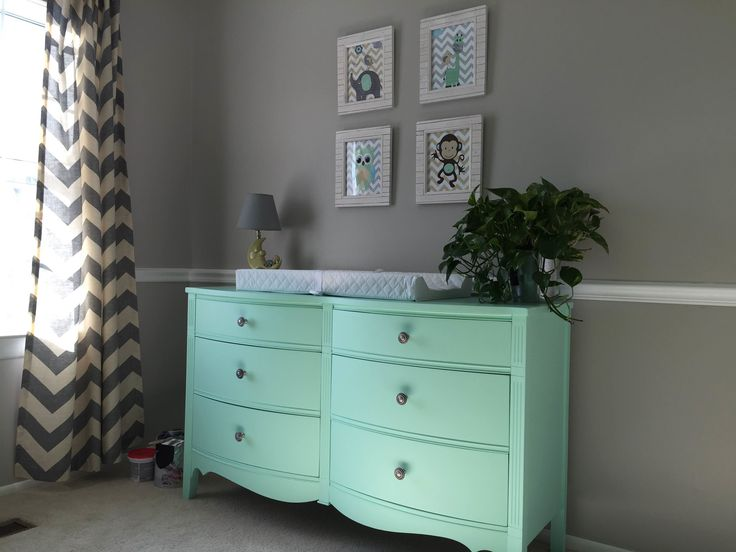Delightful 6 Drawer Turquoise Dresser: McCormick Paint: Turquoise Tower MC0714. This  Item Has Been