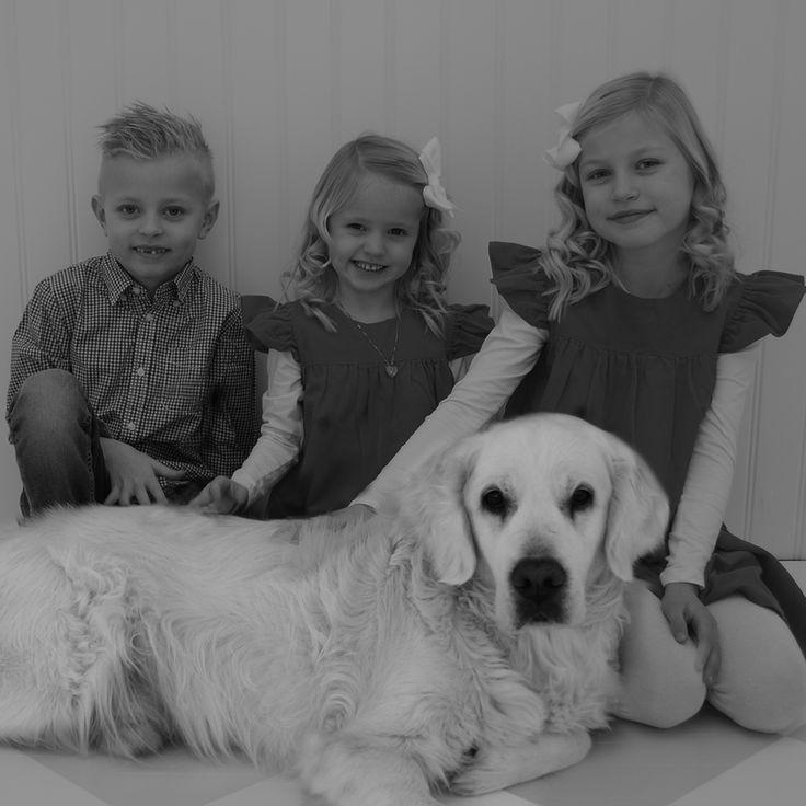 Family, love, xmas, golden retriever