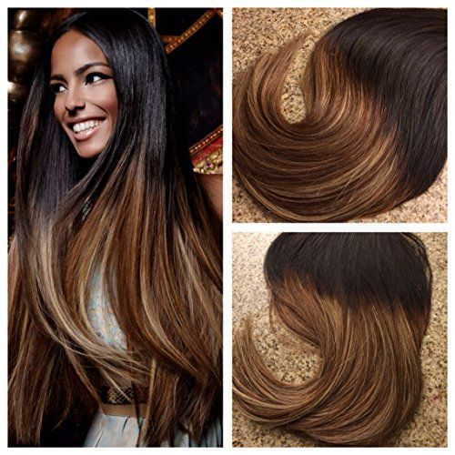 Best 25 tape in extensions ideas on pinterest tape hair moresoo 22 inch 20pcs50g dip dye color natural blackcolor 1b virgin hairbrown hair extensionskeratin hair extensionsbalayage pmusecretfo Image collections