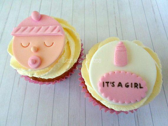 Bébé Cupcake Toppers petit gâteau comestible Topper par LenasCakes