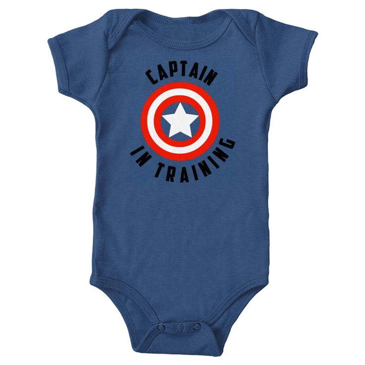 Captain America Onesie - Captain in Training - 4th of July baby outfit - Summer baby shower gift by BuzzBearTees on Etsy https://www.etsy.com/listing/236574225/captain-america-onesie-captain-in