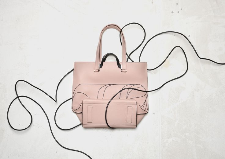 LURA Eva Tote printed leather pink