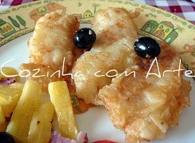 Cozinha com Arte: iscas de bacalhau ou bacalhau panado