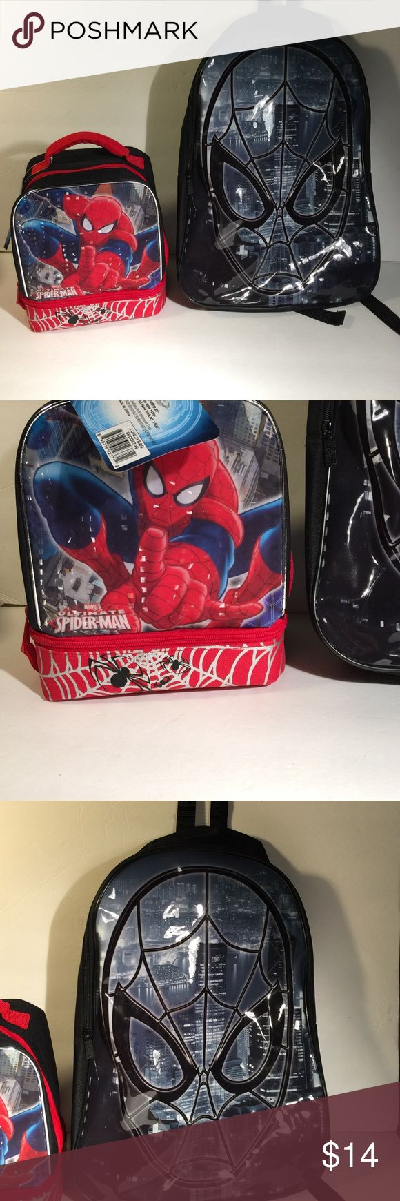 Spider-Man backpack and lunch bag Spiderman backpack was only used for one day. Spiderman lunchbox never used still has tags. Comes from a smoke free home, please ask any questions I respond quickly. Accessories