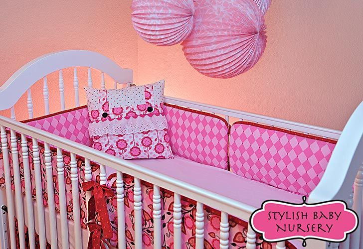 Stylish Baby Nursery: Crib Bumpers in Two Cool Fabs