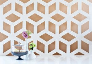 backdrop matrimonio geometrico