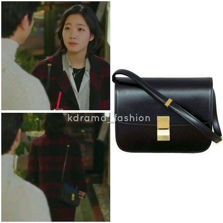 "685 lượt thích, 9 bình luận - @kdrama_fashion trên Instagram: ""Kim Go Eun carried CÉLINE Black Classic Box Leather Bag $3,900.00 in Goblin Drama Episode 14. Photo…"""