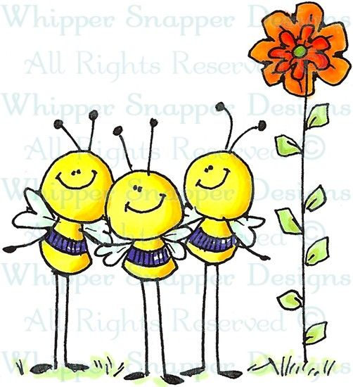 Busy Bees - Bugs - Rubber Stamps - Shop