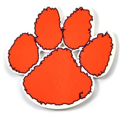 Clemson Tigers Paw Steel Magnet