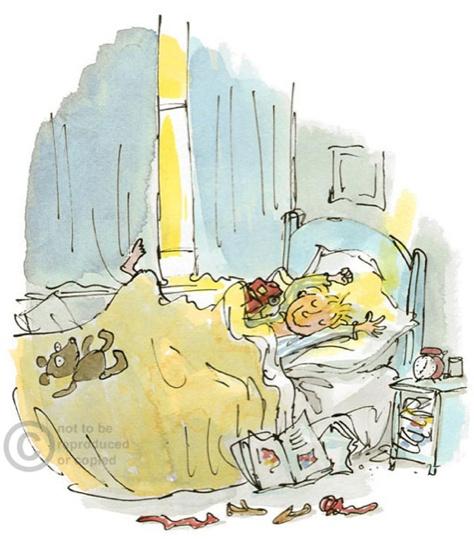 A favorite Quentin Blake illustration - always reminds me of Sam.