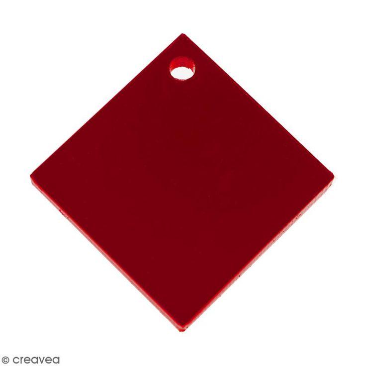 Compra nuestros productos a precios mini Colgante cuadrado - Rojo - 17 mm - Entrega rápida, gratuita a partir de 89 € !
