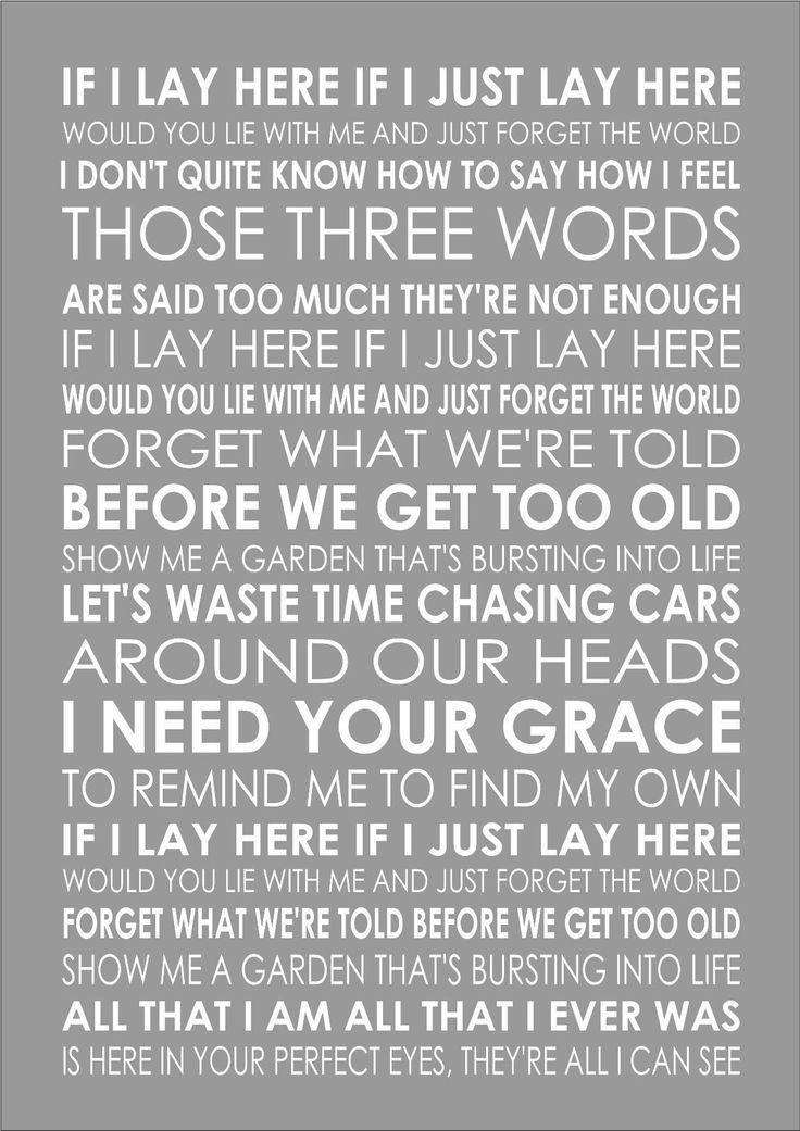Details About Chasing Cars Snow Patrol If Word Words Song Lyric Lyrics Wall Art Typography Music Quotes Lyrics Songs Music Quotes Lyrics Great Song Lyrics