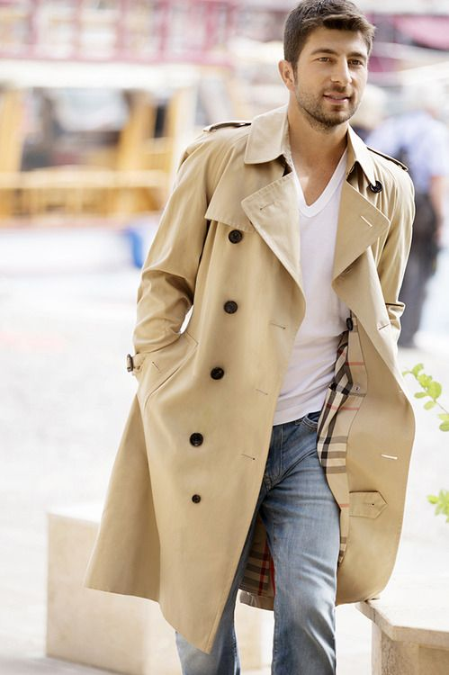 A light-weight Burberry Trench is the perfect throw on for those rainy spring/summer days #cwlks - Christopher Walks