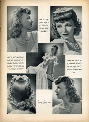 Wonderful 1940s hairstyles ideas for medium (or longer) lengths. #vintage #hair #1940s