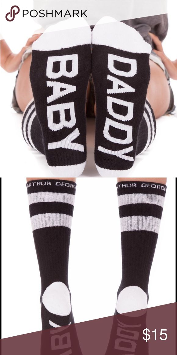 "Arthur George socks by Robert Kardashian ""Baby Daddy""  socks - Size: 7-12  Arthur George socks by Robert Kardashian are famous for their comfort, style, and unapologetic attitude. Express yourself! Arthur George Accessories Hosiery & Socks"
