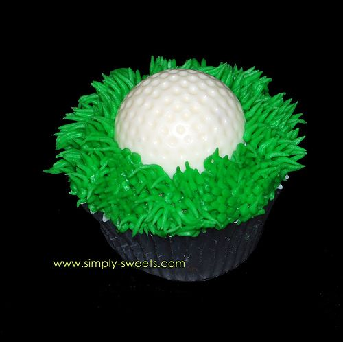 golf ball cupcake by Simply Sweets, via Flickr