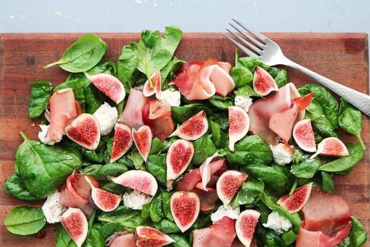 Salat med figner og mascarpone