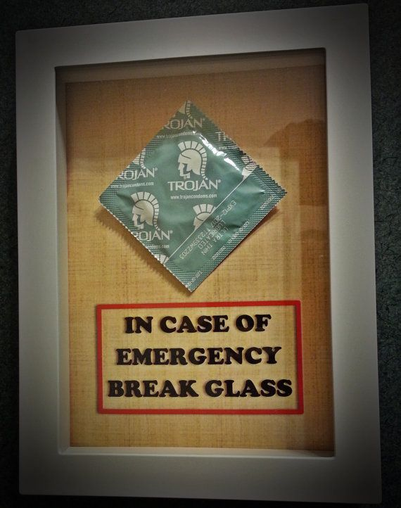 Adult, Funny, Gift for Husband or Wife, Men or Women, for Him or Her, for Boyfriend, Valentine - CONDOM - In Case of Emergency Break Glass on Etsy, $14.99