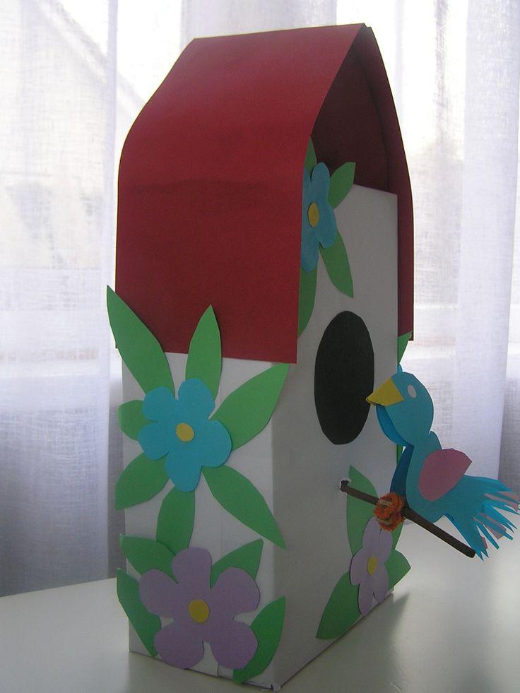 surprise vogelhuis van schoenendoos