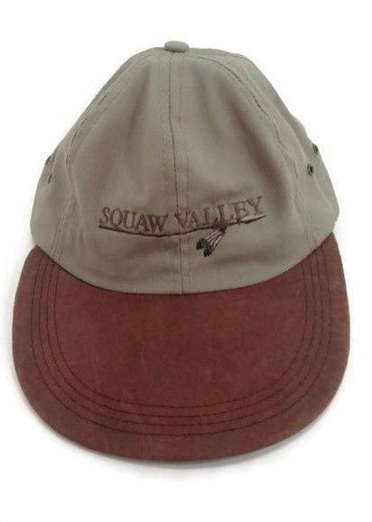 Vintage Squaw Valley Ski Resort Olympic Valley California USA Baseball Cap  Hat  CampDavid  BaseballCap  usabaseball 6e8972f961f6