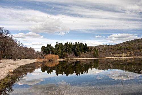 Quillén - reflejos en el lago