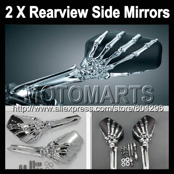 Ghost Hand Skull Mirrors For KAWASAKI NINJA ZX-9R 02-03 ZX 9 R ZX 9R 2002-2003 ZX9R 02 03 2002 2003 Skeleton Rearview Mirror(China (Mainland))