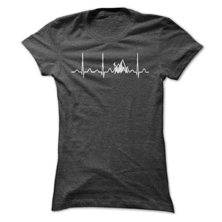 Hike Heartbeat grey tee shirt - Women's Hiking Clothing - http://amzn.to/2h7hHz9