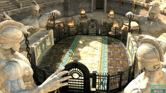 <center><b>制覇王闘技場</b></center>ムガル帝国領辺境の石窟群に築かれた闘技場。四方には巨大な覇王像が鎮座し、生と死を見そなわしている