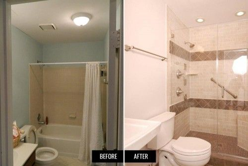 Bathroom remodel ideas before and after - removing bathtub