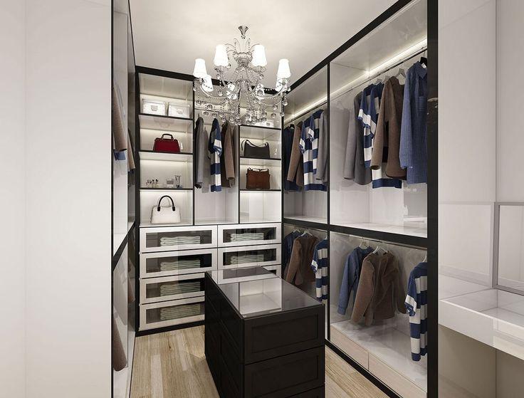 Residential HDB Interior Design, Modern Walk-in Wardrobe