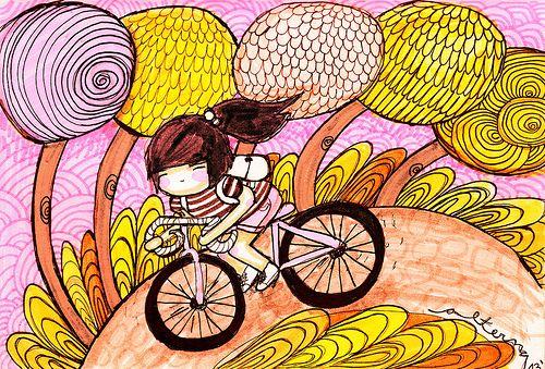 bici en rose