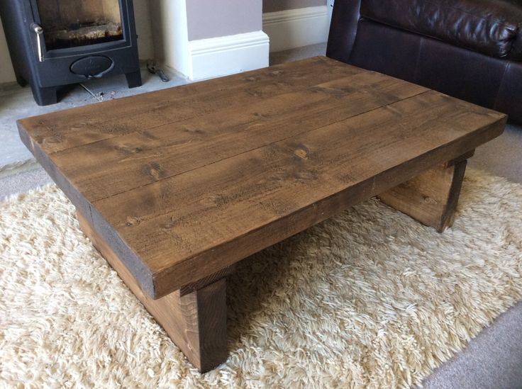 Rustic handcrafted reclaimed wooden coffee table in walnut wax. by NorthumbrianElements on Etsy https://www.etsy.com/uk/listing/259041917/rustic-handcrafted-reclaimed-wooden