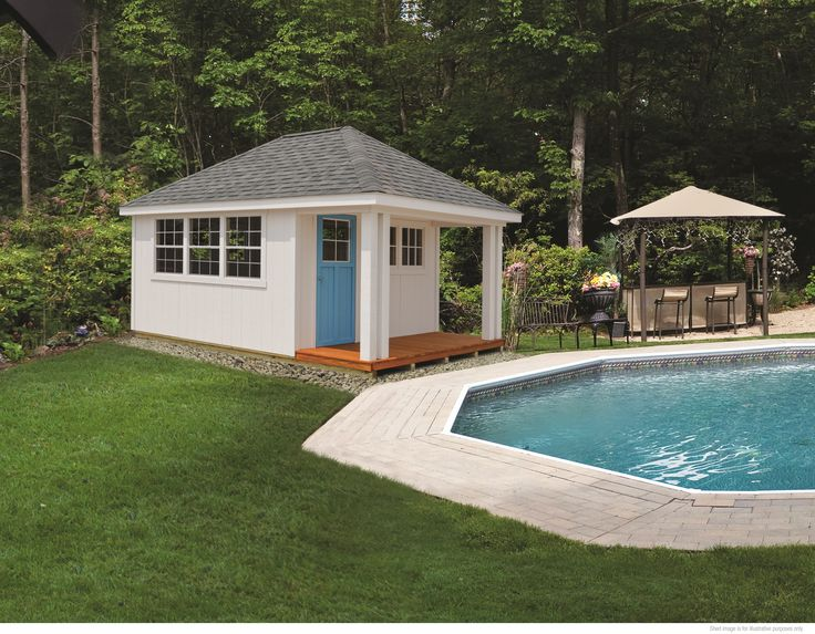 25 best ideas about prefab sheds on pinterest garden for Manufactured pool house