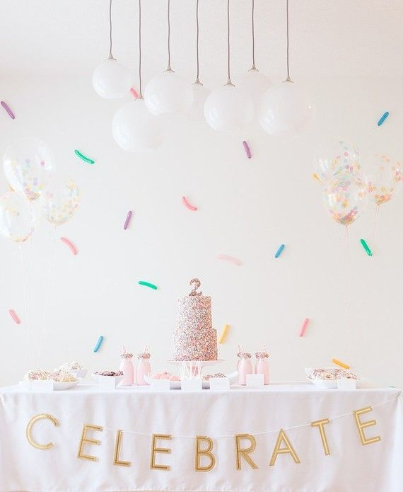 There's no way you'll walk away without a sweet tooth after this one, just warning ya now. Tessa of Starling Studio went with a colorful confetti theme for her twin girls' 2nd birthdays since they tak