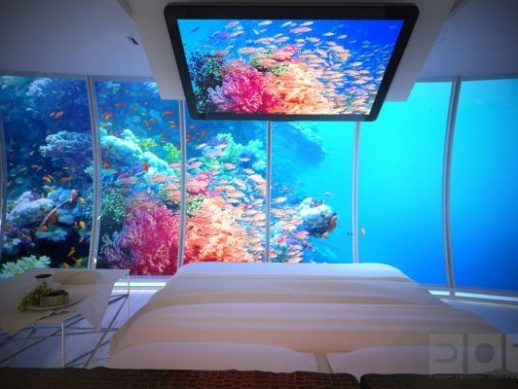 Water Discus Hotel - now that's a view from bed!