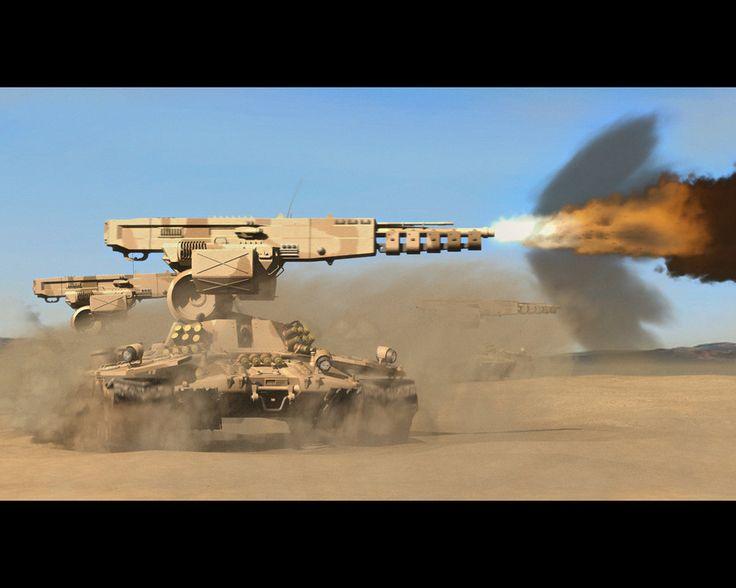 A high-tech future tank.