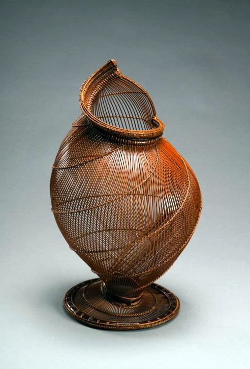 "Hatakeyama Seido (Japanese) ""Conch Shell"" 1954.  Bamboo & rattan"