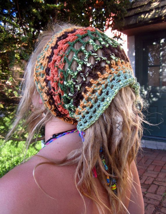 Earthy Crochet Dread Wrap    MADE TO ORDER by HorizonsEd3e on Etsy, $20.00
