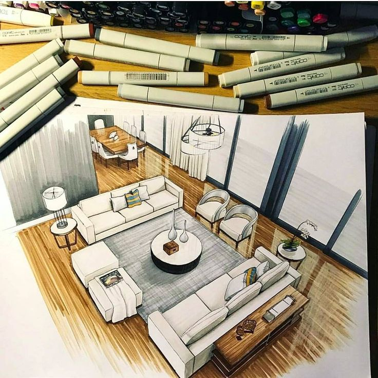"""A R C H I T E C T U R E ✏ on Instagram: """"_ • TAG YOUR ARCHITECTURE FRIENDS TO SEE THS .. I Like it ? by @zasstdesign . #architecture #scetch #arquitectura #sketch #design…"""""""